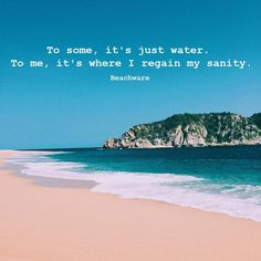 Summer Quotes, Beach Quotes, I Love The Beach, Vacation, Water, Outdoor, Sea Shells, Ocean, Inspiration