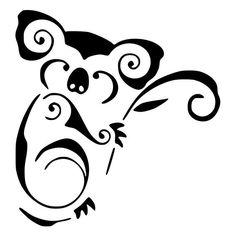 Tribal Koala Bear by staci Tribal Animal Tattoos, Tribal Drawings, Tribal Animals, Art Drawings, Tattoo Australia, Body Art Tattoos, Small Tattoos, Koala Tattoo, Tattoo Symbole