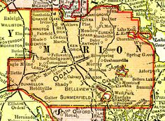 Marion County Florida Map.126 Best Maps Images Old Maps Antique Maps Florida