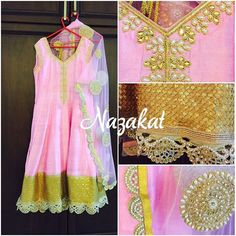 A pinkanarkali teamed up with a dupatta and the bling of gold detailing ❤️ The colour can be customised. Please whatsapp or dm for details. Shipping worldwide. For more designs: www.facebook.com/nazakatjal #baby #pink #white #antique #pearl #handwork #clientdiaries #beadwork #dupatta #beautiful #awesome #pretty #gorgeous #elegant #loveit #wow #womenwear #women #indian #indianwear #ladies #ladieswear #ethnic #ethnicwear #musthave #dontmiss #nazakat