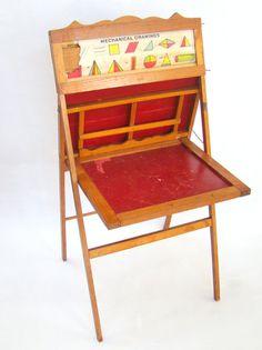 vintage folding easel / chalkboard / desk