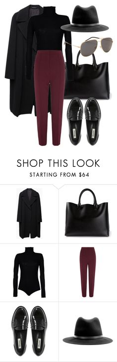 """Untitled #2171"" by annielizjung ❤ liked on Polyvore featuring Yohji Yamamoto, Chloé, Boutique de la Femme, Dune, rag & bone and Yves Saint Laurent"