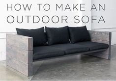 DIY Wooden Outdoor Sofa - step by step instructions... #diy #homestead #homesteading