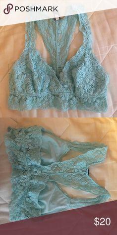 FLASH SALE 10% OFF Aerie lace bralette pretty light blue lace bralette. Original price- $20 aerie Tops