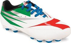 Diadora DD-NA 2 R LPU JR Junior Soccer Cleats C384 C384 - WHITE/GREEN/RED 4.5 JR.