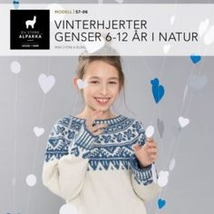 DSA57-11 Vinterhjerter genser 1-4 år i blått – Du Store Alpakka How To Purl Knit, Different Textures, Crochet Stitch, Drops Design, Baby Knitting, Winter Outfits, Blog, Girls, Women