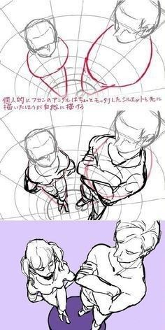 Perspective poses Source by senchineru Drawing Reference Poses, Anatomy Reference, Drawing Skills, Drawing Poses, Drawing Techniques, Drawing Tips, Drawing Sketches, Posture Drawing, Art Drawings