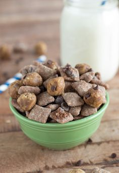 Cookie Dough Muddy Buddies - only 2 ingredients in this eggless cookie dough!