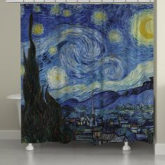 Vincent Van Gogh's Starry Night Shower Curtain – Laural Home