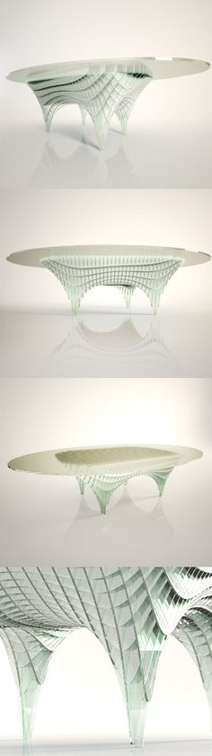 """Double Curvature Table"" designed by Diana Quintero de Saul. Know more on Desall.com! Art Of Glass, Diana, Artisan, Interior Design, Nest Design, Home Interior Design, Interior Designing, Home Decor, Home Interiors"