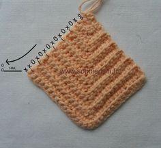 Crochet modulaire suite exercice motif gauche