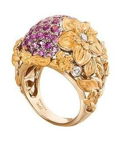 Jewelry Rings, Jewelery, Fine Jewelry, Gold Diamond Rings, Gold Rings, Pink Sapphire, Carrera, Bracelet Watch, Pure Products