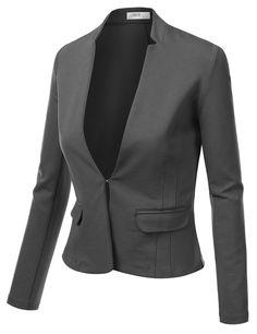 Womens Collarless Open Blazer (AWOBL0162)