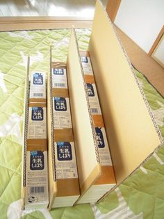 牛乳パックで絵本ラックを作成~♪(後編) - room*1204