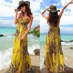 Bohemian dress, Hot sale, Women backless chiffon full-length dress with high quality Free shipping
