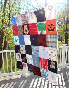 Baby Clothes Memory Blankets - Boy and Girl