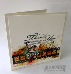 Brusho en Carabelle stempels gaan zo goed samen, en dat afgemaakt met deze prachtige tekst van Penny Black. Brusho and Carabelle stamps are such good match, finished it off with this gorgeous text ...