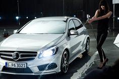 "Not Bad. Mercedes-Benz A-Klasse ""Parking"" Mercedes Benz, Films, Models, Vehicles, Creative, Car, First Grade, Movies, Templates"