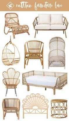 Rattan Furniture, Home Decor Furniture, Living Room Furniture, Furniture Design, Barbie Furniture, Furniture Legs, Garden Furniture, Furniture Layout, Industrial Furniture