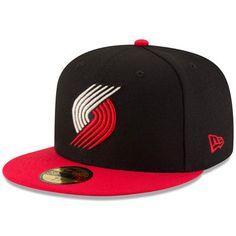 Portland Trail Blazers New Era Official Team Color 2Tone 59FIFTY Fitted Hat - Black/Red