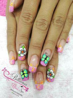 Pretty Nail Designs, Nail Art Designs, Acrylic Colors, Nail Colors, Hair And Nails, My Nails, Magic Nails, Paws And Claws, Better Than Yours