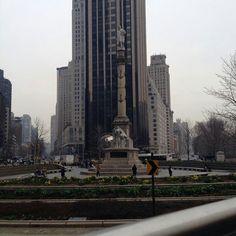 Statue of Columbus in Columbus Circle