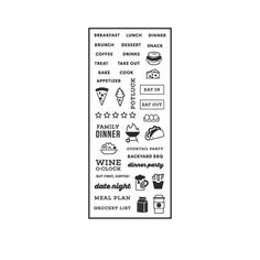 Hero Arts Clear Stamps Kelly's Food Planner cl914