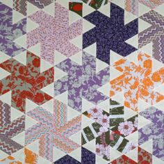 Tiny Dancer | Jaybird Quilts/ hex N more ruler Quilting Tutorials, Quilting Projects, Quilting Designs, Quilting 101, Quilting Ideas, Jaybird Quilts, Star Quilts, Modern Quilt Blocks, Quilt Block Patterns