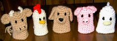 Crochet Pattern Central - Free Pattern - Farmyard Finger Puppets