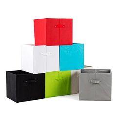 diMio SB1 Faltbox in schwarz (Doppelpack) - Regalfach Aufbewahrungsbox mit Trageschlaufen und Fingerloch, extra tief für noch mehr Stauraum
