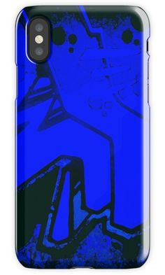Graffiteroo Electric Blue graffiti inpired design on mobile phone case. Available for iphone and samsung. Mobile phone accessory