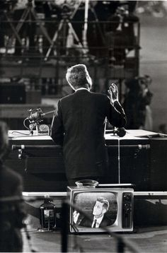 John F. Kennedy live on television at the Democratic National Convention. Los Angeles, 1960. Photo: Garry Winogrand.