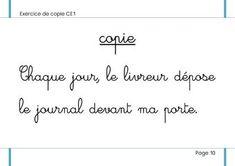 """La copie """"marchée"""" au CE1 et au CE2 Cycle 3, Classroom, Teacher, Math Equations, France, Info, Cursive, Jogging, Homeschool"""
