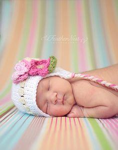 baby girl crochet hat