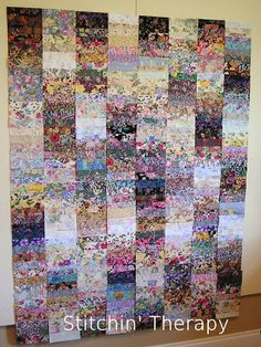 watercolor strip quilt
