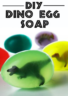 Gift idea ::: Doing this with the Funko Pop SPN key chains!  Hatch your own dinosaur with this fun dino egg soap