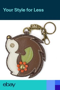 ec261f00c Chala Hedge Hog Whimsical Inspired Key Chain Coin Purse Leather Bag Fob  Charm Handbag Stores,