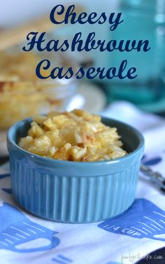 Cheesy Hashbrown Casserole by Poofy Cheeks for Tatertots and Jello!! The PERFECT side dish for Easter! #DIY