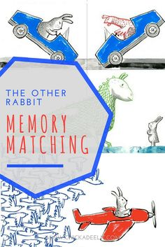 This Picture Book Brings Memory Matching to LIfe! 'The Other Rabbit' is a fun… Literacy Activities, Activities For Kids, Activity Ideas, Toddler Books, Childrens Books, 1st Grade Crafts, Fun Adventure, Fun Worksheets, Books For Boys