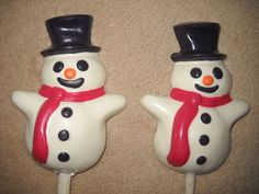 1 Dog Safe Chocolate gourmet christmas snowman jacks Rawhide lollipop Lollipops #castlerockchocolatessapphirechocolates