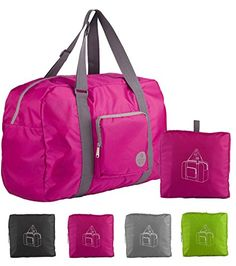 5b3216277d69 WANDF Foldable Travel Duffel Bag Super Lightweight for Luggage