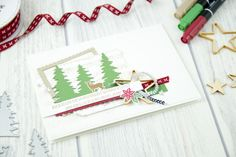 We love a clean, white background to really make the design elements pop! Loving this card made with the Carols of Christmas bundle. #stampinup #carolsofchristmas