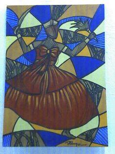 Iansã acrílico s/tela 70x50 pintado por Bianca Branco