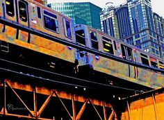 Chicago transit 'EL' - Giclee print - 8x10 fine art print - Downtown Chicago, Illinois - Industrial, colorful, urban photography