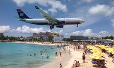 Watching the planes land over Maho beach St. Maarten/ St. Martin