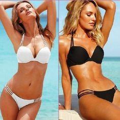 Women Push-up Padded Bra Bandage Bikini Set Swimsuit Triangle Swimwear Bathing #Unbranded #Bikini
