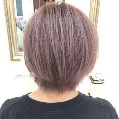 これは最強!外国人風パープルグレーの神カラー【すずなちゃん】の髪。