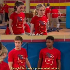 "#GirlMeetsWorld 1x13 ""Girl Meets Flaws"" - Riley, Maya, Lucas and Billy"