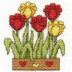 spring flowers hearts