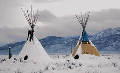 Teepees in the Snow, by Simon Davidson